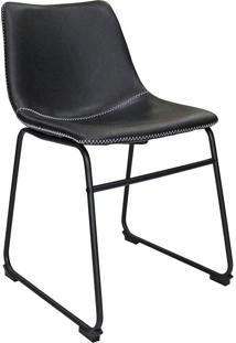 Cadeira De Jantar Vintage Mkc-043-Marka Móveis - Preto