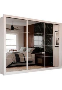 Guarda-Roupa Casal Com 3 Espelhos Siena City 3 Pt 4 Gv Branco