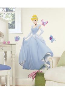 Adesivos De Parede Roommates Colorido Disney Princess - Cinderella Giant Peel & Stick Wall Decal