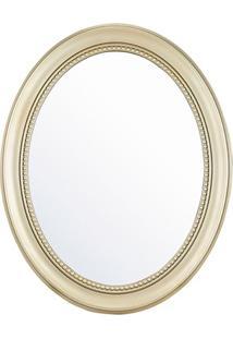 Espelho De Parede Oval Vinty 70X56Cm Dourado