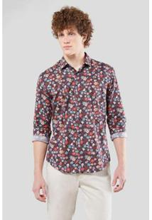 Camisa Enxuto Estampa Edenham Reserva Masculina - Masculino-Marinho