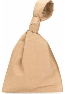 Bottega Veneta Clutch Com Alça De Mão - Marrom