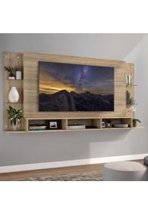 "Painel Tv 65"""" C/ Prateleiras De Vidro Nairóbi Plus Multimóveis Rustic"
