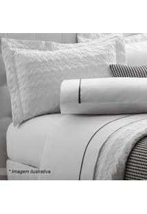 Jogo De Cama Clean King Size- Branco- 4Pã§S- 200 Sultan