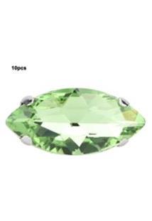 Kits De Acessórios Para Roupas Faça Você Mesmo Com 10X De Costura Olho De Cavalo Diamante Vidro Garra De Cristal