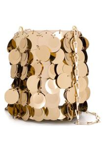 Paco Rabanne 1969 Disc Bucket Bag - Dourado