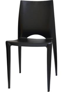 Cadeira Meia Lua Polipropileno Preto - 15124 - Sun House