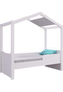 Mini Cama Casinha Montessoriano S/ Auxiliar Branco Completa Móveis