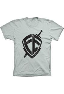 Camiseta Lu Geek Manga Curta Escudo Da Fé Prata