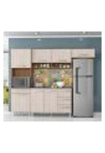 Cozinha Compacta Carol 5 Portas E 1 Gaveta Montana Elmo Natural