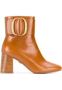 See By Chloé Ankle Boot Hopper De Couro - Marrom
