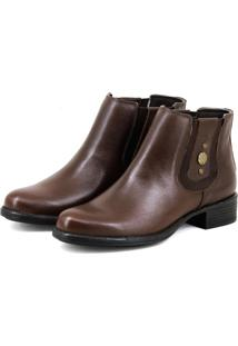 Bota Chelsea Boots Escrete Original Marrom - Tricae