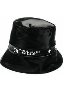 Off-White Chapéu Bucket Com Logo - Preto