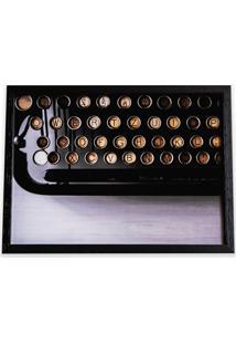 Quadro Máquina De Escrever 29X39Cm