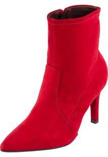 Bota Ramarim Ankle Boot Vermelho 34