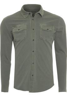 Camisa Masculina Army Pockets - Verde