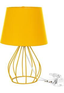 Abajur Cebola Dome Amarelo Com Aramado Amarelo - Amarelo - Dafiti
