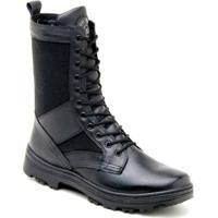1e68e42661 Bota Atron Shoes Coturno Militar Couro Preto - Masculino-Preto