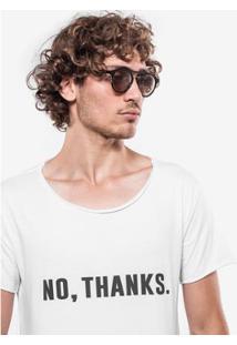Camiseta Hermoso Compadre No, Thanks - Masculino-Branco