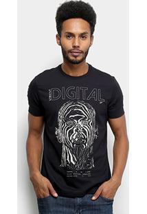 Camiseta Ellus Fine Strictly Digital Classic Masculina - Masculino-Preto