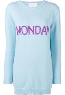 Alberta Ferretti Vestido Suéter 'Monday' - Azul