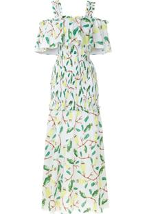 Isolda Vestido Longo 'Urucum' Estampado