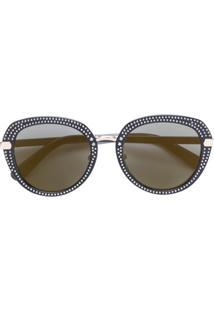 Farfetch. Jimmy Choo Eyewear Óculos De Sol Com Aplicações - Preto 7bb5354465