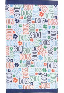 Toalha Banho Infantil Candy Dogs 65X115Cm - Teka - Colorido
