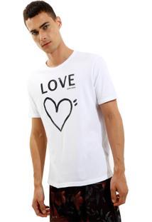 Camiseta John John Rx Love Malha Branco Masculina Tshirt Rx Love-Branco-Gg