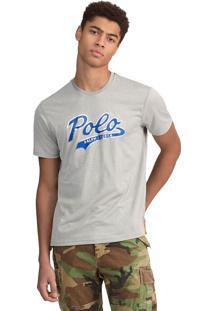 Camiseta Polo Ralph Lauren Reta Cinza
