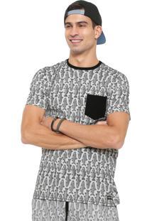Camiseta Element Fish Off-White