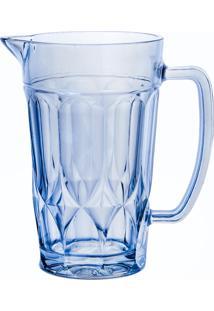 Jarra De Vidro Curves Azul 1 Litro