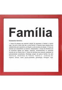 Quadro Familia 27X27-Kapos - Vermelho