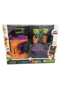 Color Chefs Kit Cafeteira Som Luz App Laranja Usual Plastic
