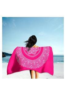Toalha De Praia / Banho Mandala Pink Único