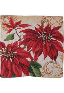 Capa Almofada Flor/Arabesco Decoraã§Ã£O Natal 45X45Cm Vermelha - Vermelho - Dafiti