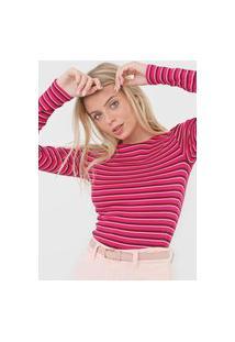 Blusa Gap Listrada Rosa