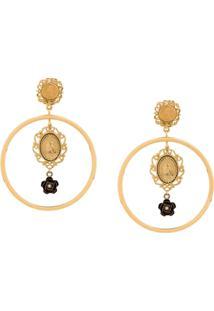Dolce & Gabbana Par De Brincos Madonna - Dourado