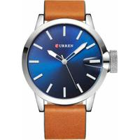 adbd5f85cee Relógio Curren Analógico 8208 Prata E Azul - Masculino