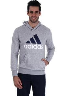 Blusa Moletom Masculina Adidas Ess Lin Po Fp - Cinza