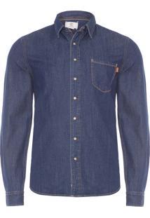 Camisa Masculina Soft Denim - Azul