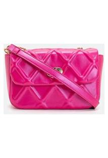 Bolsa Pequena Transversal   Satinato   Rosa   U