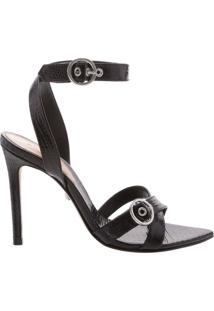 Sandália Stiletto Rocker Black | Schutz