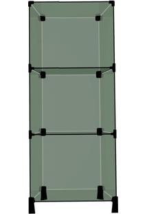 Balcão Vitrine Em Vidro Com 3 Nichos De 50X30X100