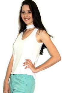 Regata Up Side Wear Choker Branca