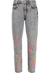 Philipp Plein Calça Jeans Com Bordado - Preto