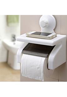 Suporte De Papel Higiênico Para Banheiros Com Ventosa De Sucção