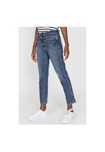 Calça Jeans Gap Reta Estonada Azul