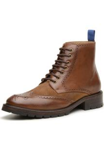 Coturno Couro Gianno Firenze Brogue Whisky