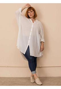 Chemise Ella Plus Size Branco-G Branco